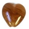 Glass Pressed Beads 10x10mm Heart Brown Stripe